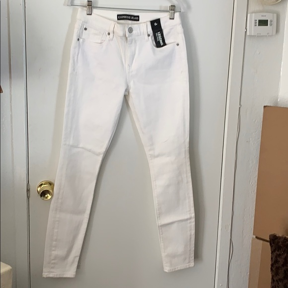 Express Denim - White Jean Leggings